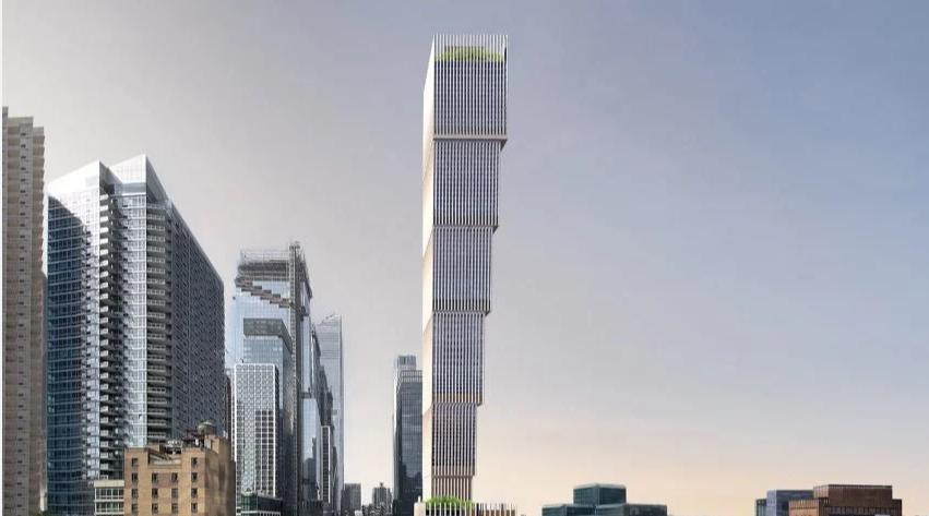 Bất ngờ với tòa nhà chọc trời lộn ngược ở New York