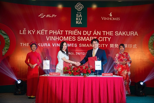 Vinhomes hợp tác với tập đoàn Samty phát triển dự án The Sakura