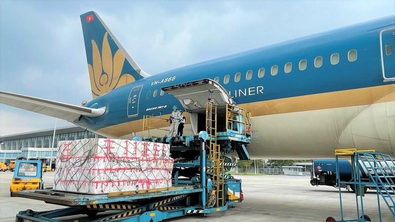 Ngành hàng không xem xét giảm giá vận chuyển vải thiều Bắc Giang