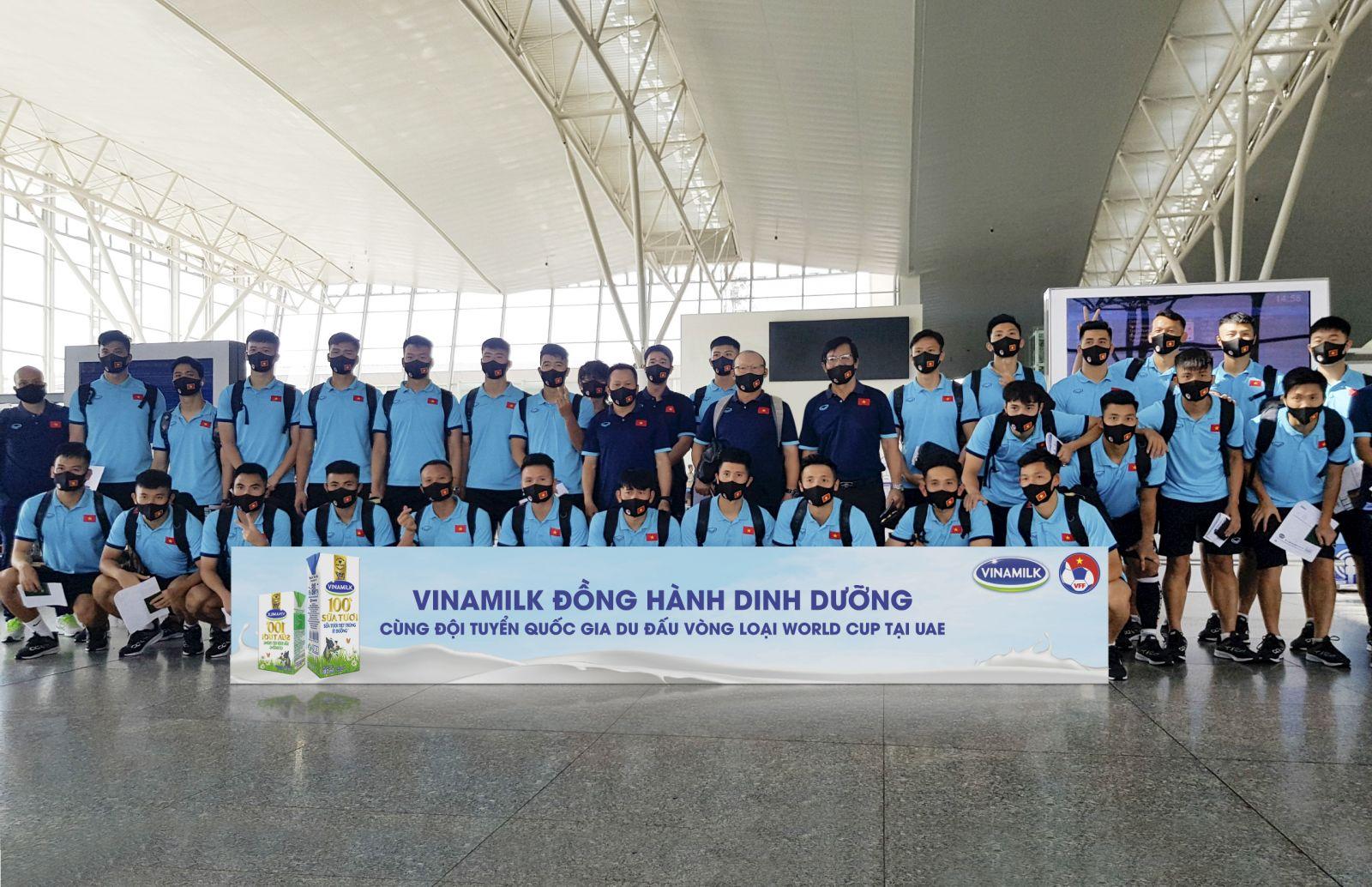 Vinamilk đồng hành cùng Đội tuyển Quốc gia tại vòng loại WORLD CUP 2022