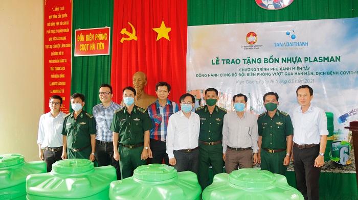 Tập đoàn Tân Á Đại Thành đồng hành cùng Đồn biên phòng Hà Tiên vượt qua hạn mặn