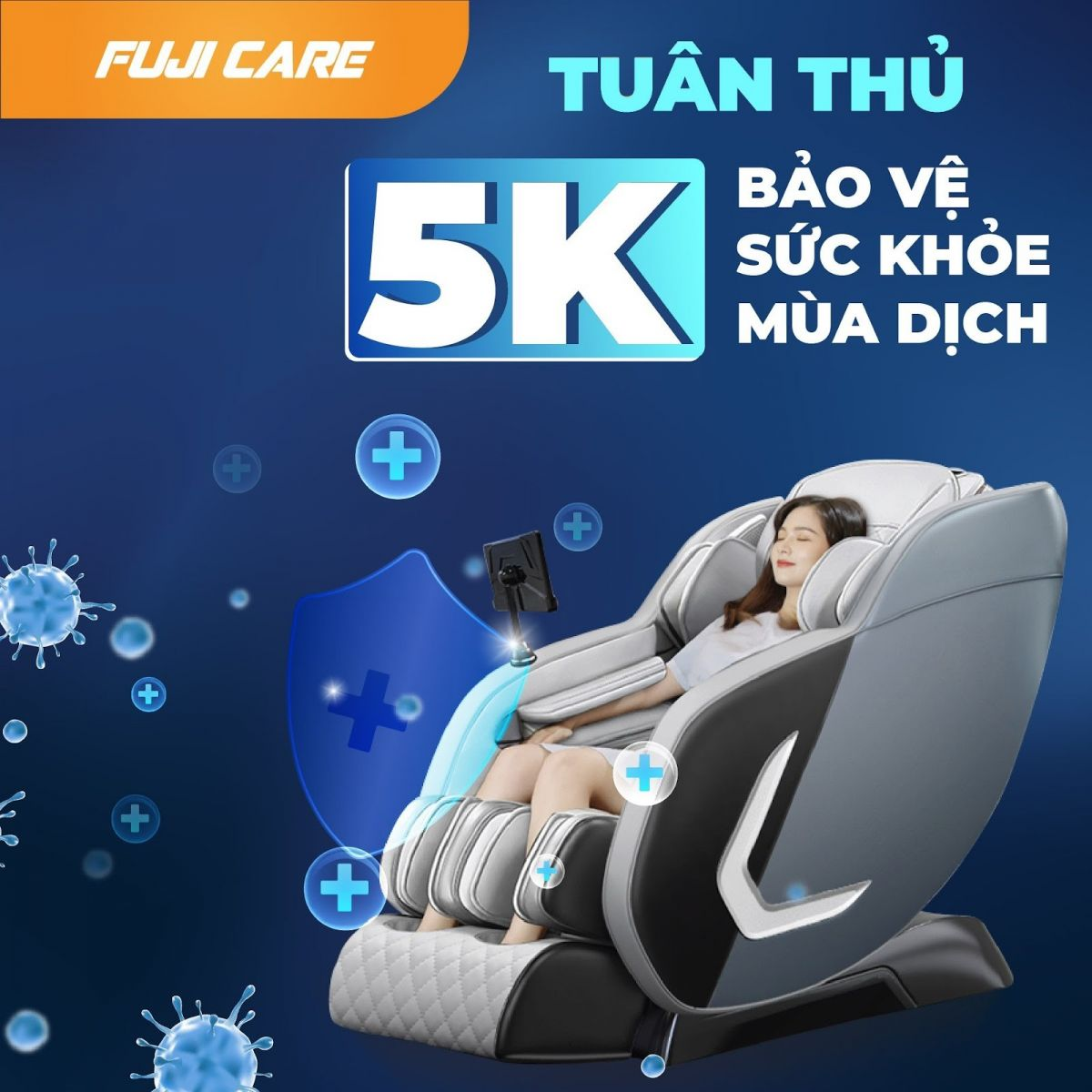 Ghế massage Fuji Care - Nâng cao sức khỏe, thư giãn cơ thể