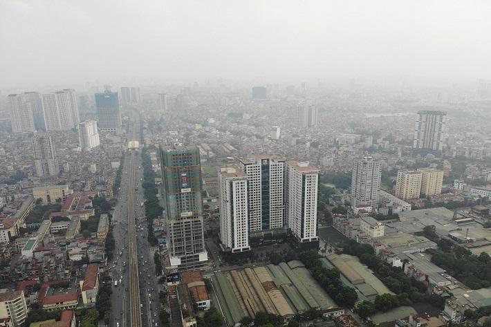 Nhiều khu vực chất lượng không khí ở mức trung bình