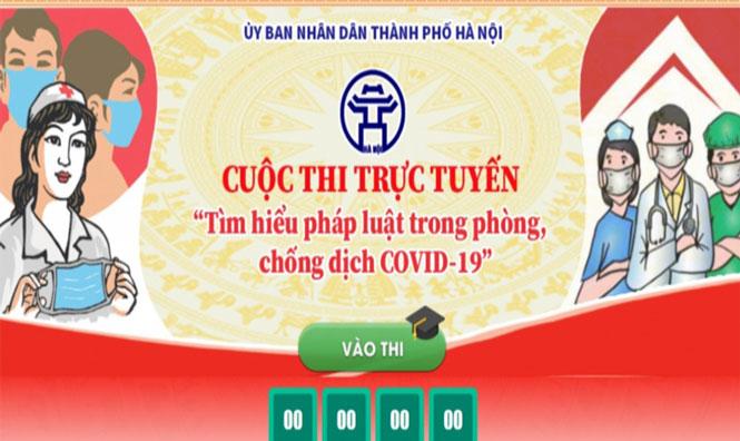 Hà Nội: Hơn 1 triệu người thi tìm hiểu pháp luật về phòng, chống Covid-19