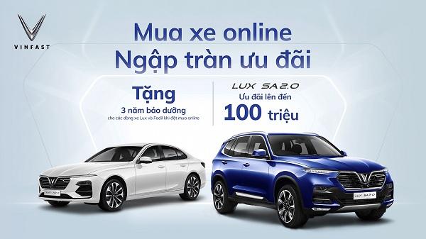 VinFast ưu đãi lớn cho khách hàng mua xe online trong tháng 8