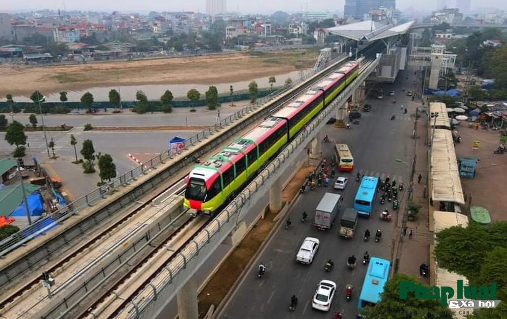 Chính thức chạy thử nghiệm đoàn tàu đầu tiên tuyến đường sắt Nhổn - ga Hà Nội