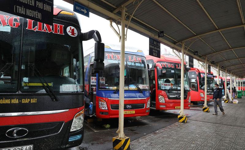 Xe khách liên tỉnh hoạt động dựa vào cấp độ dịch Covid-19 ở từng địa phương