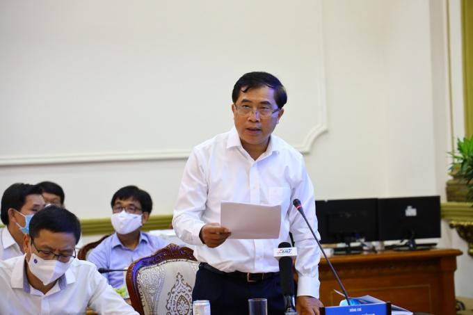 Ông Lê Quang Hùng - Thứ trưởng Bộ Xây dựng phát biểu tại hội thảo. Ảnh: Huyền Mai
