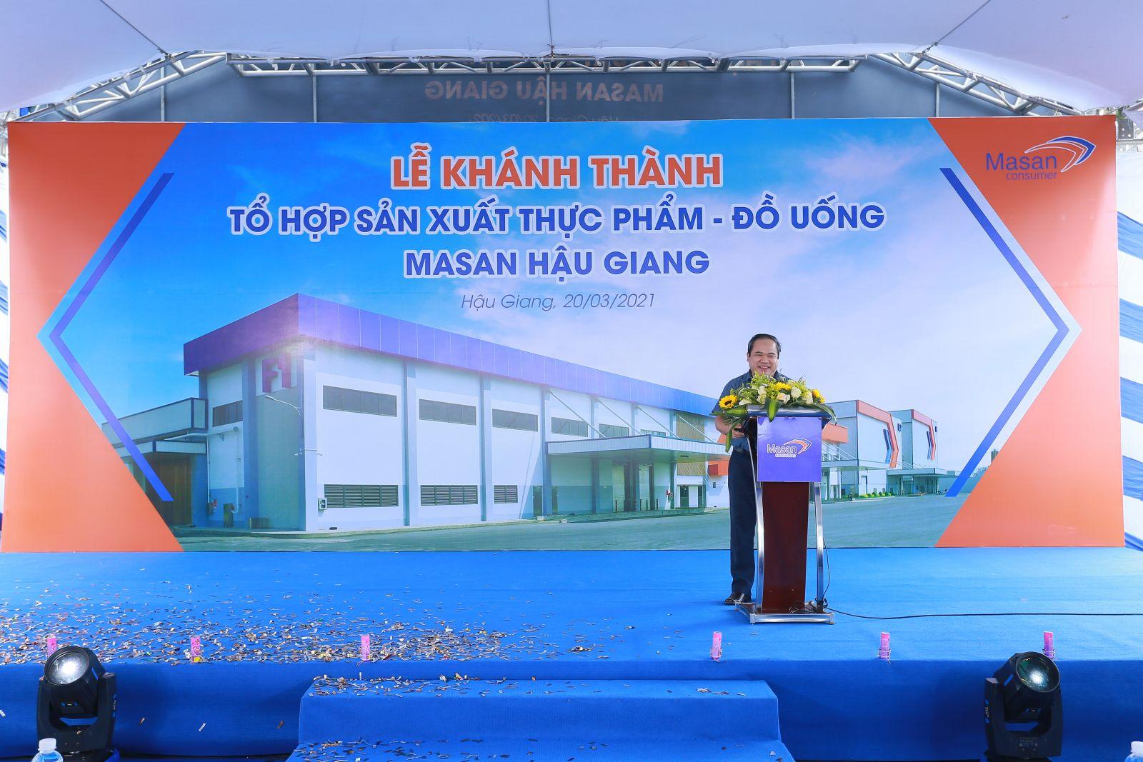 Ông Trương Công Thắng - TGĐ Masan Cosumer phát biểu tại buổi lễ