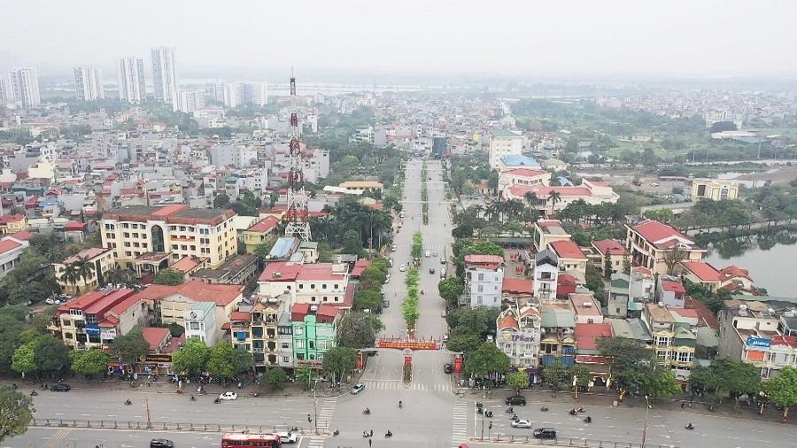 Huyện Thanh Trì phấn đang gấp rút triển khai những tiêu chí còn thiếu để từng bước lên quận. (Ảnh: Hữu Duyên)