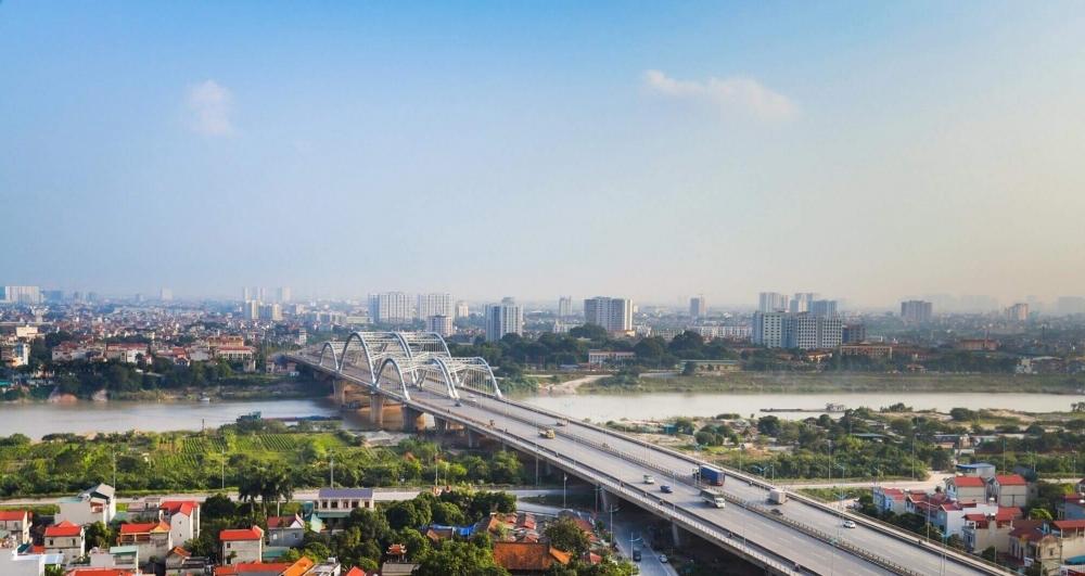 Cầu Đông Trù kết nối huyện Đông Anh với Trung tâm Hà Nội. (Ảnh: NC)