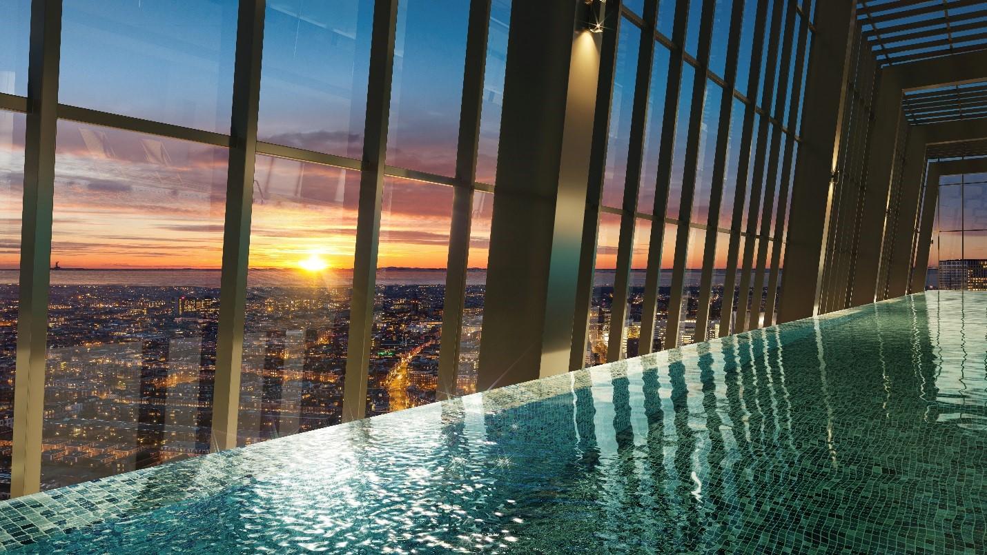 Bể bơi vô cực tại tầng 22 dự án Grandeur Palace – Giảng Võ