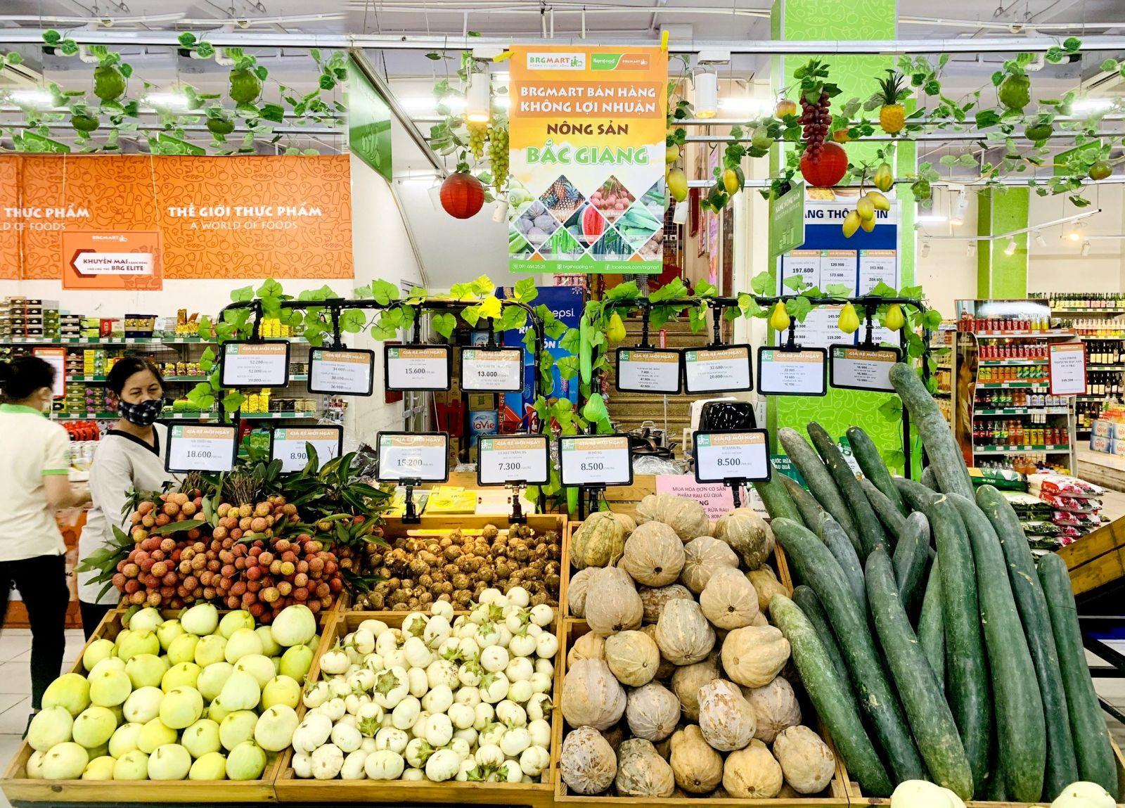 BRGMart bán hàng không lợi nhuận đối với các sản phẩm nông sản của Bắc Giang