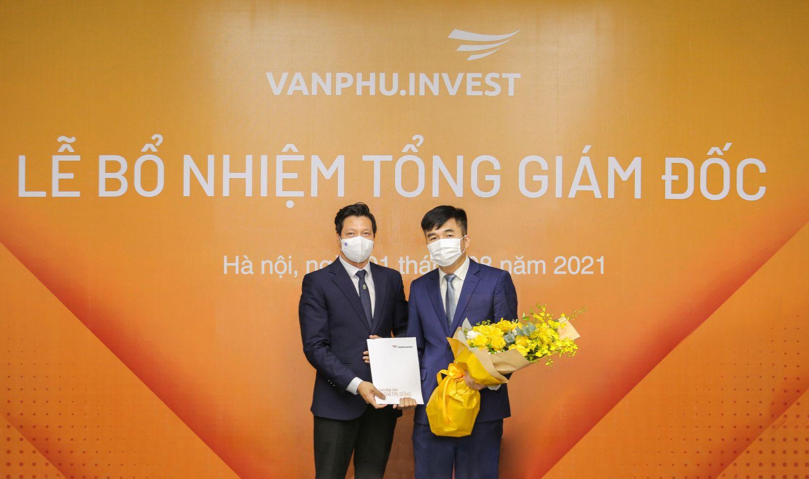 Ông Triệu Hữu Đại nhận quyết định bổ nhiệm Tổng giám đốc Công ty Cổ phần đầu tư Văn Phú – Invest