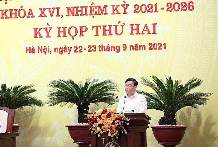 Giám đốc Sở Xây dựng - Võ Nguyên Phong phát biểu tại kỳ họp sáng 23/9 (Ảnh: Internet)