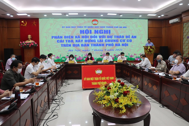 Hội nghị phản biện xã hội đối với Đề án Cải tạo, xây dựng lại chung cư cũ trên địa bàn TP Hà Nội có trên 20 ý kiến tham gia đóng góp  (Kinh tế đô thị)
