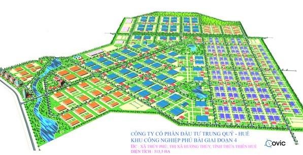 Phối cảnh KCN Phú Bài mở rộng giai đoạn IV