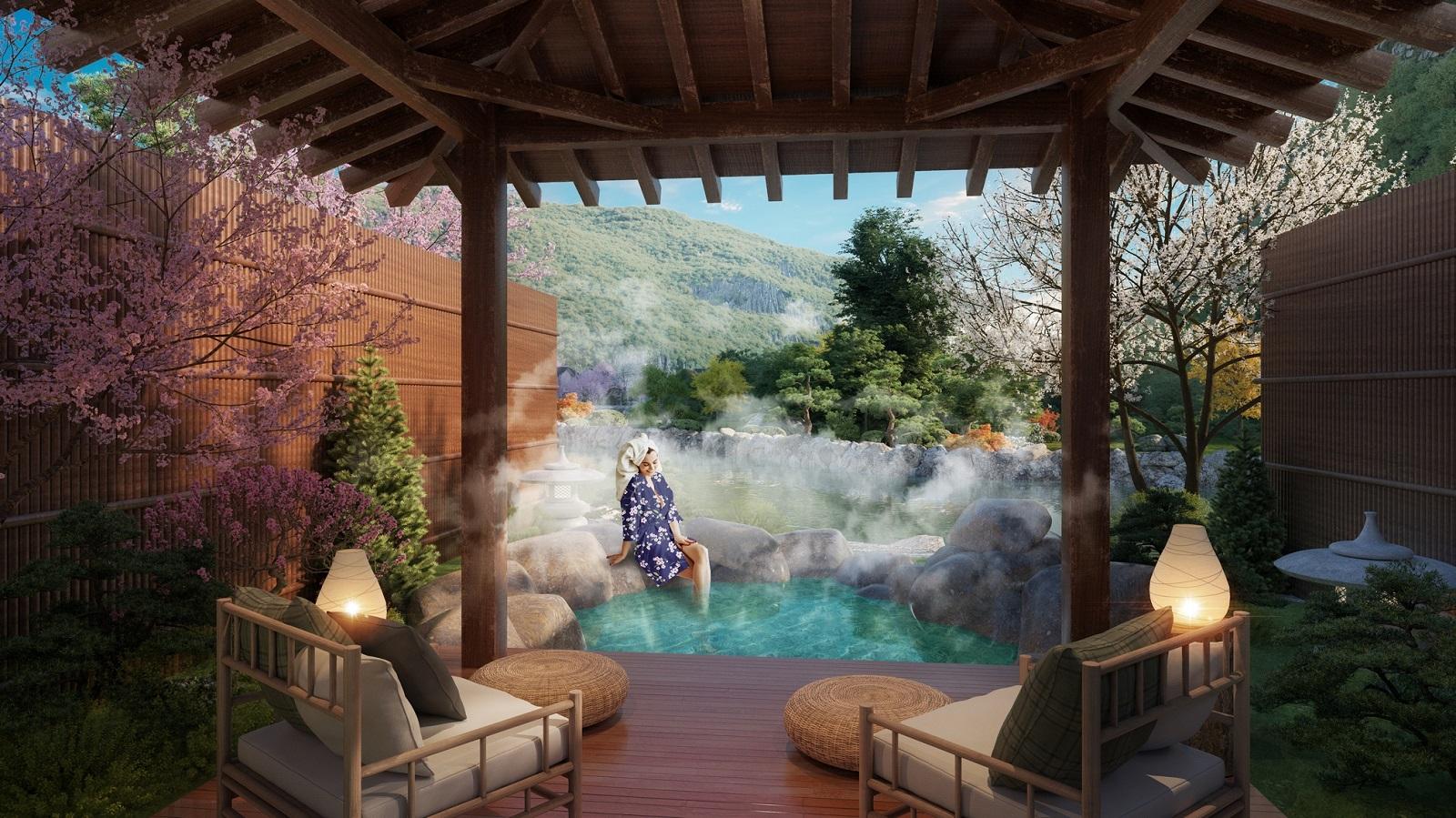 Biệt thự Yoko Villas mang đến trải nghiệm tắm khoáng nóng riêng tư cho giới thượng lưu