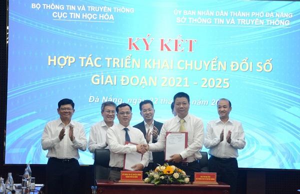 Sở Thông tin - Truyền thông TP. Đà Nẵng ký kết biên bản ghi nhớ hợp tác với Cục Tin học hóa – Bộ Thông tin - Truyền thông