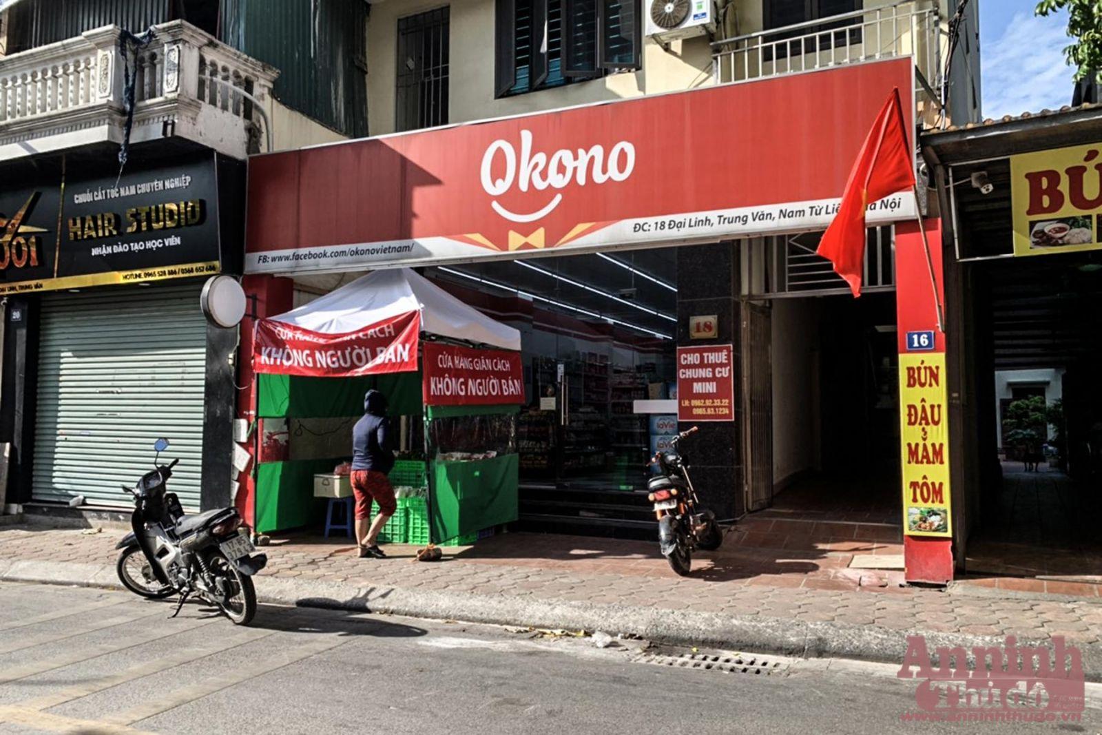 Một siêu thị tại địa chỉ 18, phố Đại Linh, phường Trung Văn, quận Nam Từ Liêm, Hà Nội đã mở gian hàng giãn cách không người bán để phòng dịch Covid-19