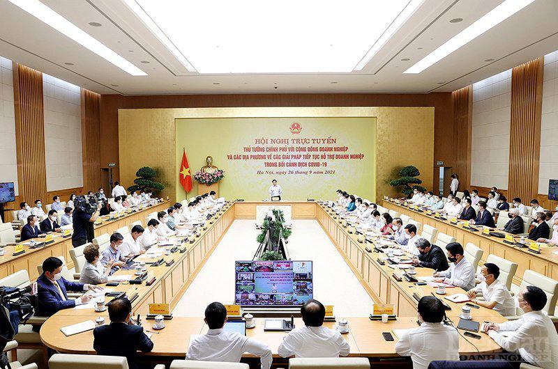 Hội nghị Thủ tướng Chính phủ gặp mặt cộng đồng doanh nghiệp diễn ra ngày 26/9.