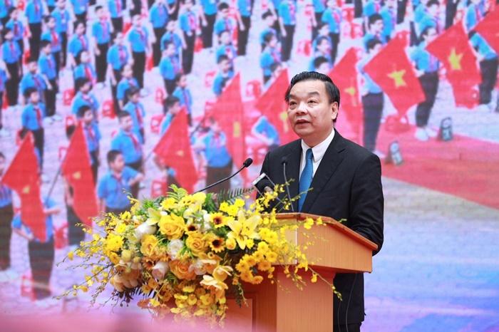 Chủ tịch UBND Thành phố Chu Ngọc Anh phát biểu tại lễ khai giảng