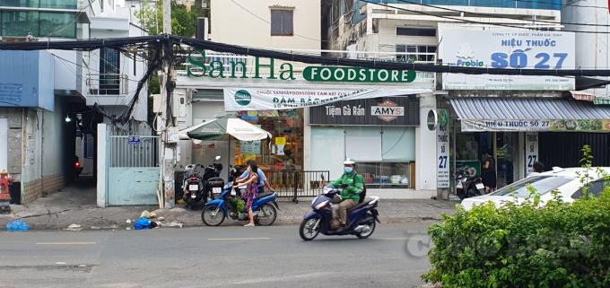 Trước cửa hàng San Hà, một điểm ổn định giá của Sở Công thương TP. HCM không còn cảnh người dân xếp hàng chờ đợi.