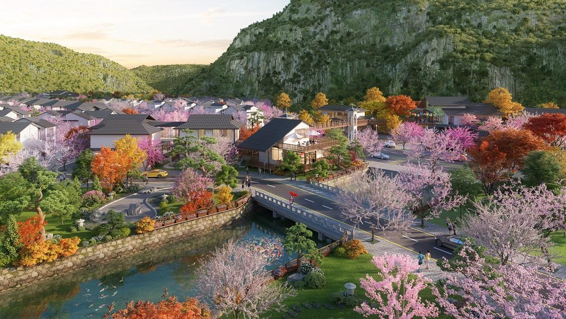 Phối cảnh khu biệt thự Sun Onsen Village – Limited Edition
