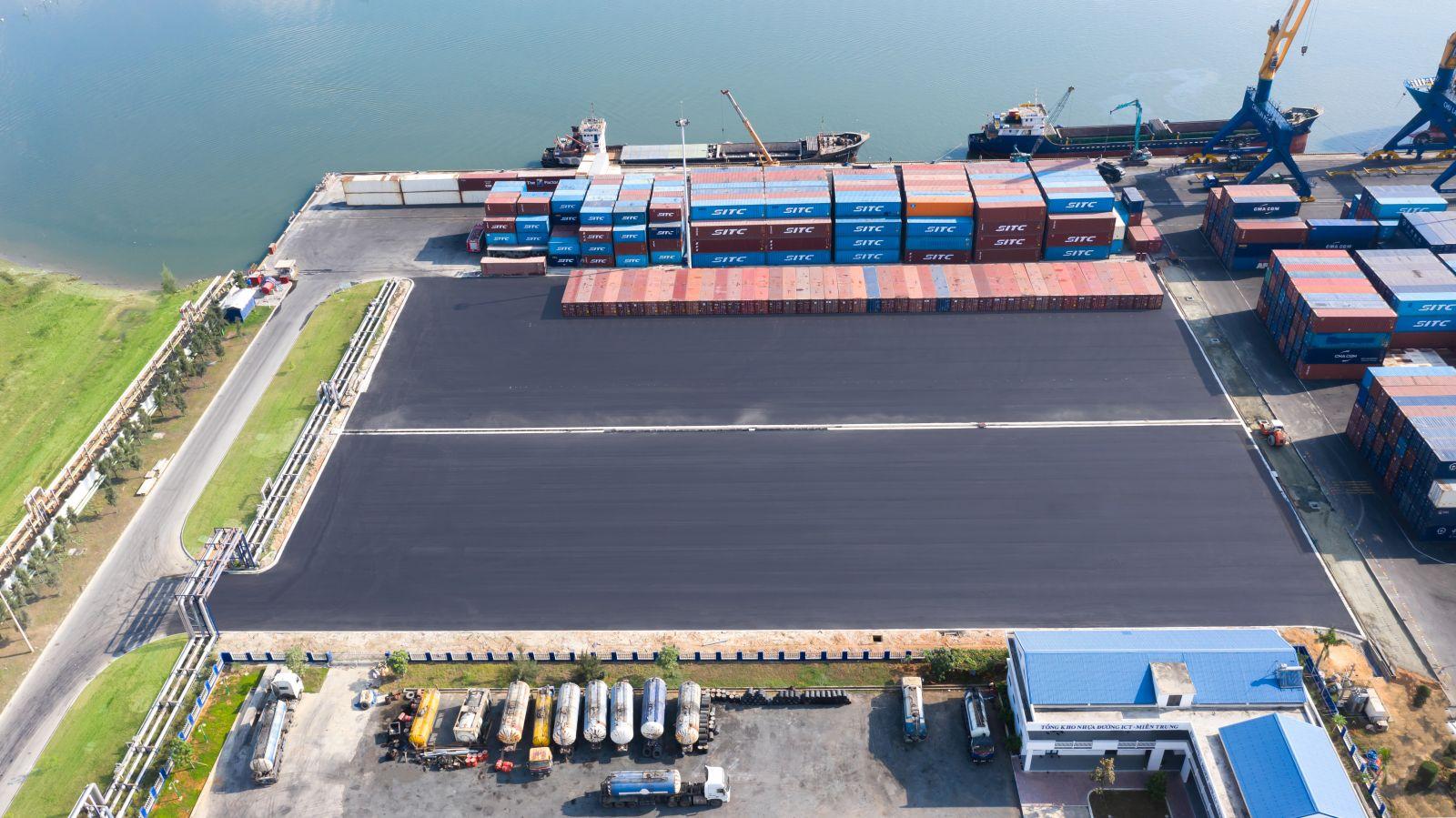 Bãi cảng được mở rộng về phía thượng lưu
