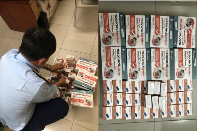 Hàng loạt sản phẩm, thiết bị y tế các loại do Trung Quốc sản xuất, không có nhãn hiệu tiếng Việt bị phát hiện.