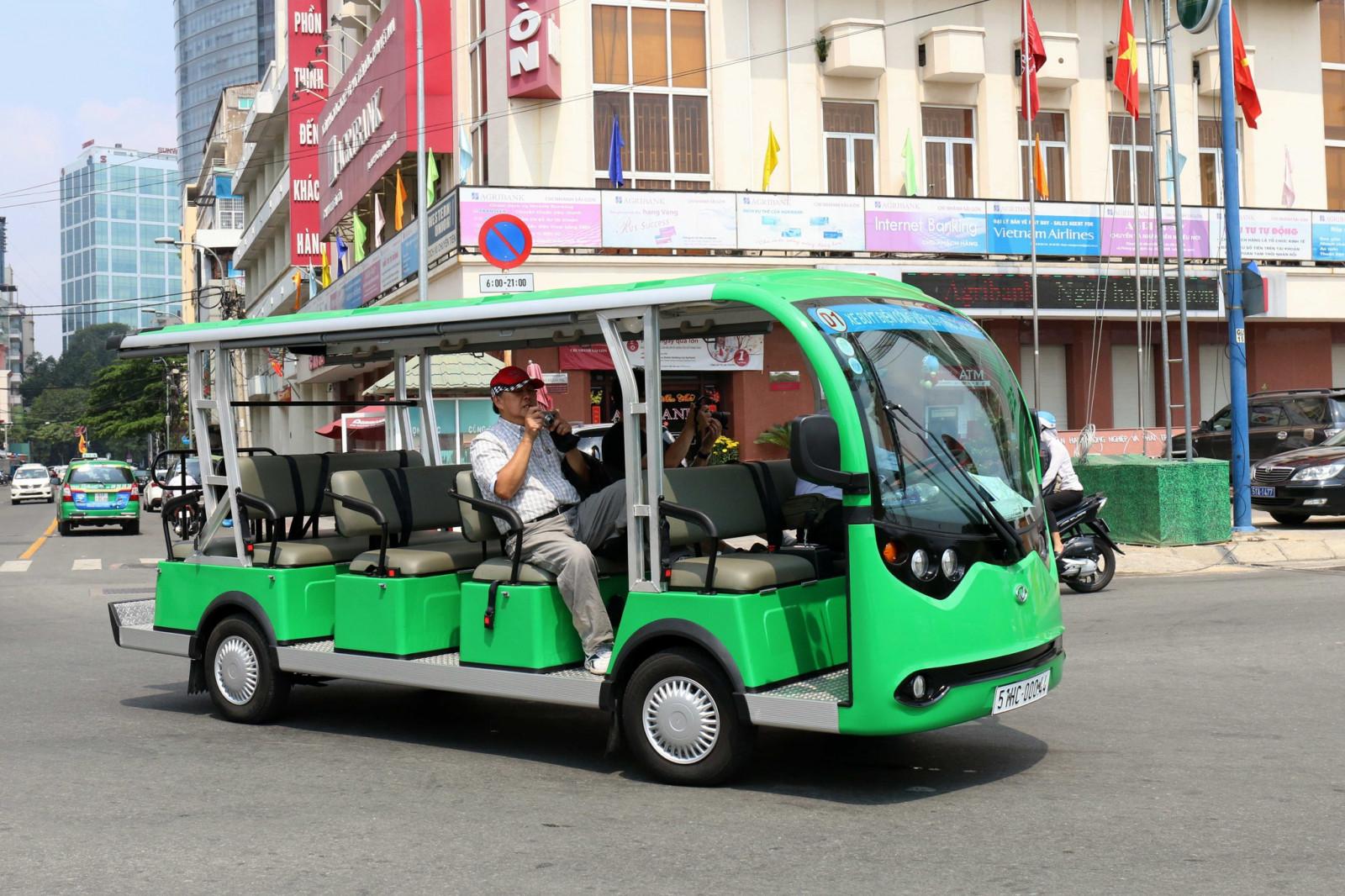 Loại hình xe buýt điện được Sở GTVT TP.HCM cho chạy thí điểm tại hai nơi là trung tâm thành phố và khu đô thị Phú Mỹ Hưng.