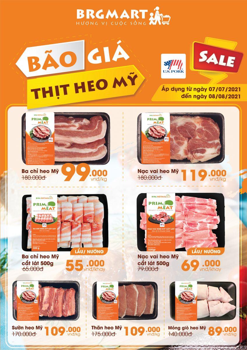 """BRGMart triển khai chương trình """"Tháng thịt heo Mỹ"""" với mức giá ưu đãi lên tới 40%"""