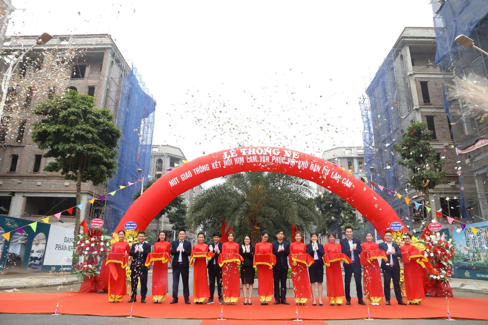 Lễ thông xe nút giao thông kết nối Him Lam Vạn Phúc với khu dân cư lân cận đã diễn ra vào sáng ngày 18/3