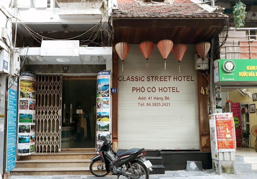 Khách sạn trên phố Hàng Bè dừng hoạt động do Covid-19
