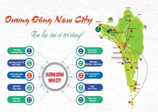 Vị trí đắt giá của KDC Dương Đông New City