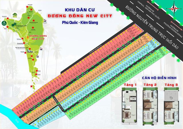 Quy mô khu đất phân lô Dương Đông New City