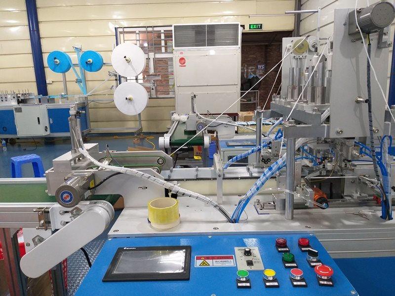 Dây chuyền sản xuất khẩu trang kháng khuẩn của doanh nghiệp tại Hà Nội.