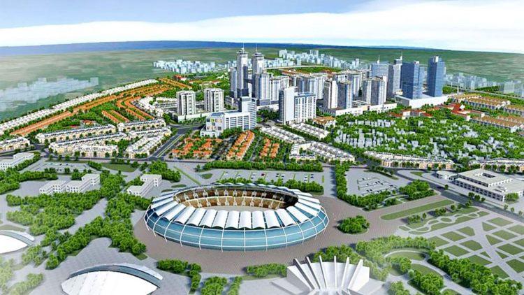 Hoà Lạc là đô thị vệ tinh lớn nhất trong 5 đô thị vệ tinh của Hà Nội. (Ảnh phối cảnh khu đô thị vệ tinh Hoà Lạc).