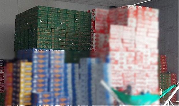 Tạm giữ 586 thùng bia Crown không hóa đơn chứng từ hợp pháp trong kho