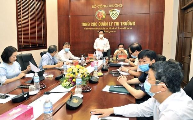 Bộ trưởng Nguyễn Hồng Diên và Bộ trưởng Lê Minh Hoan họp với các tỉnh phía Nam về cung ứng hàng hóa.