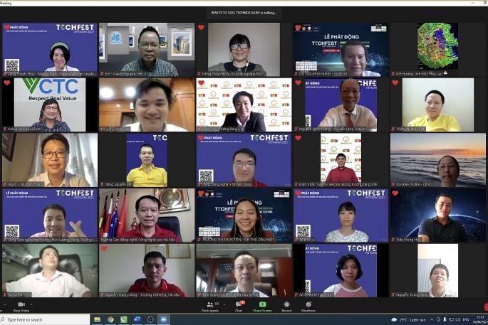 Lễ phát động Ngày hội Khởi nghiệp đổi mới sáng tạo Quốc gia TECHFEST Việt Nam 2021 được tổ chức trực tuyến.
