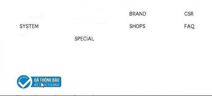 rang web TMĐT có dấu hiệu cung cấp thông tin không chính xác về việc đã thông báo tới Bộ Công Thương (hình ảnh con trỏ chuột cho thấy đây chỉ là hình ảnh của logo, khi bấm vào thì không được huyển hướng đến trang web của Bộ Công Thương)