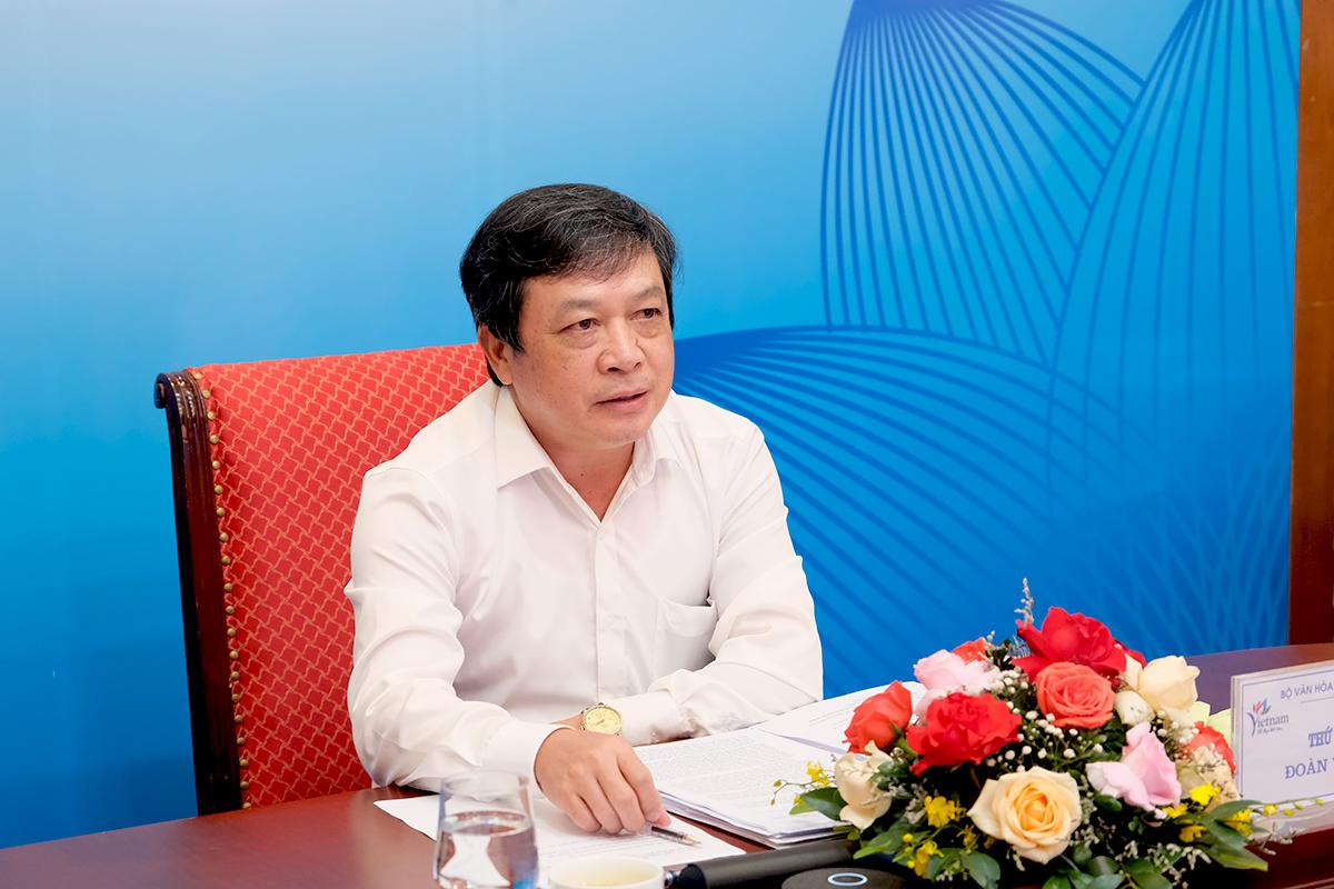 Thứ trưởng Đoàn Văn Việt phát biểu tại hội nghị. (Ảnh: TITC)