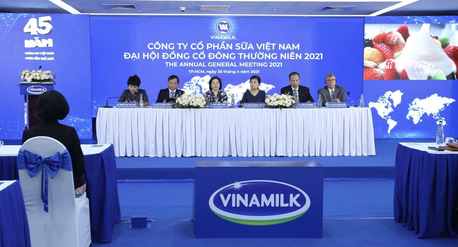 Toàn cảnh đội hội cổ đông Vinamilk 2021