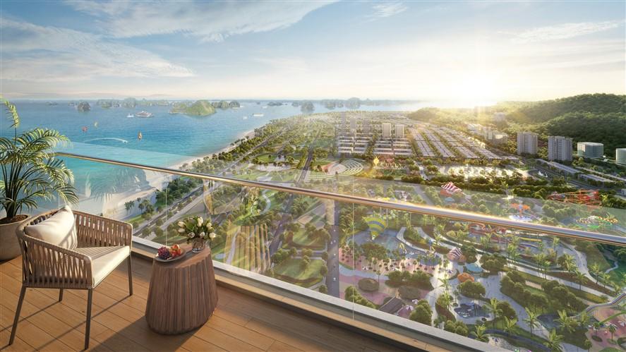 View đại dương từ ban công Sun Marina Town