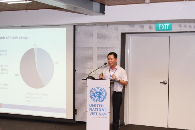 Đại diện của UNDP nêu ý kiến tại hội thảo.