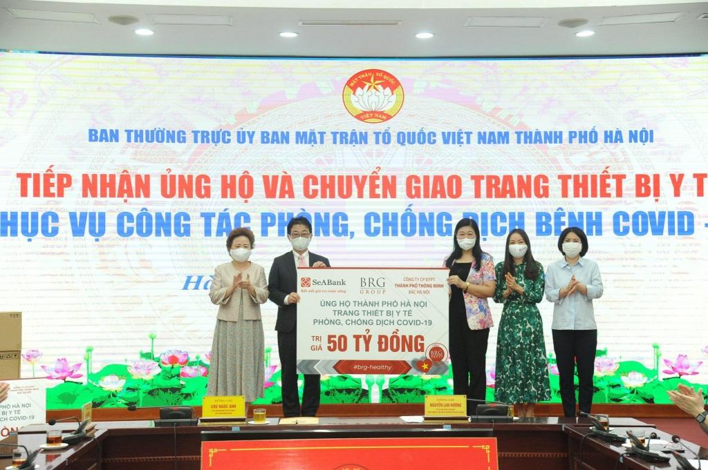 Ủy ban MTTQ Việt Nam TP Hà Nội tiếp nhận ủng hộ từ các doanh nghiệp