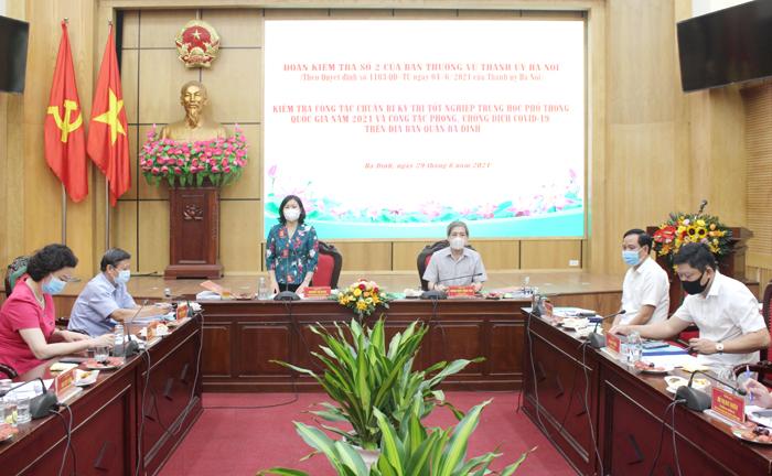 Phó Bí thư Thường trực Thành ủy Nguyễn Thị Tuyến phát biểu kết luận buổi làm việc