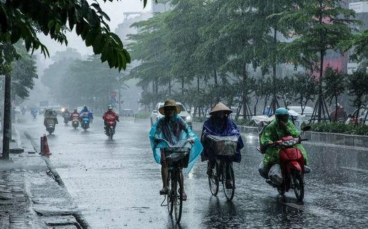 Miền Bắc có nơi mưa to