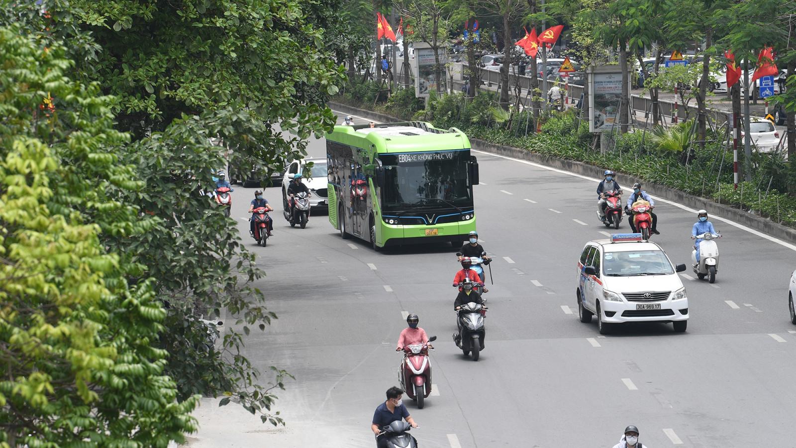 Xe buýt điện thông minh VinBus có thể sẽ kết nối với vận tải công cộng chung của thành phố.